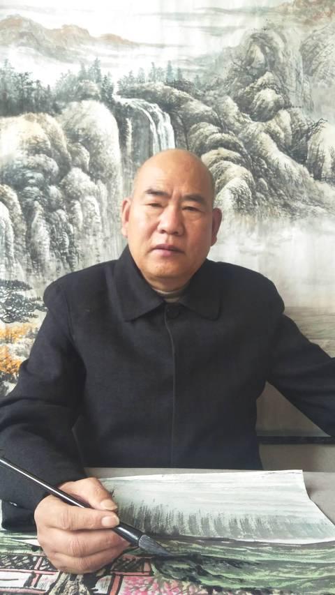 河北省著名山水画家李克清老师